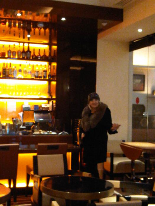 The Bar... at the Hotel Montaigne...